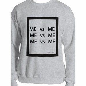 Unisa Eurani Me vs Me Crewneck Sweatshirt Unisex
